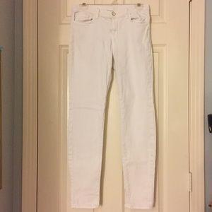 White skinny leg J Brand jeans